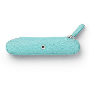 Turquoise Graf von Faber-Castell Zipper Case for One Pen - 1