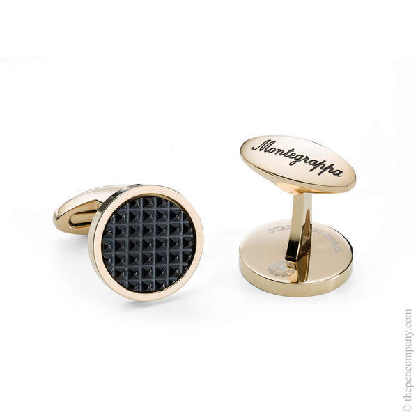 Black/Gold Montegrappa Clou Cufflinks