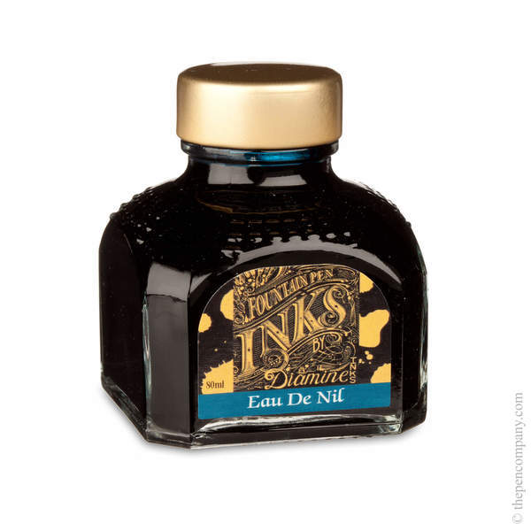 Eau De Nil Diamine Bottled Fountain Pen Ink 80ml
