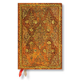 Mini Paperblanks Fall Filigree 2019 Diary Persimmon Horizontal Week-to-View - 1