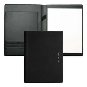 Black/Rose Gold A4 Hugo Boss Essential Rose Folder - 1