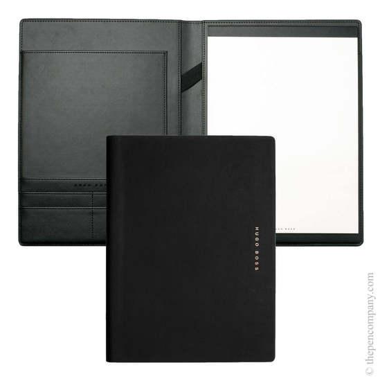 Black/Rose Gold A4 Hugo Boss Essential Rose Folder - 1