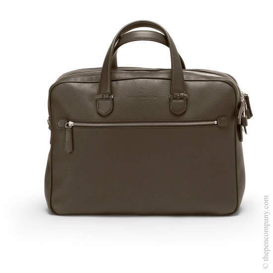 Dark Brown Graf von Faber-Castell Cashmere Briefcase Double - 1