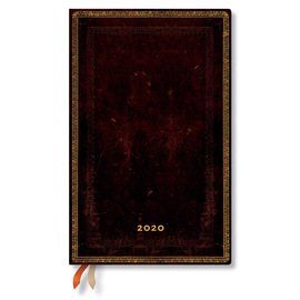Maxi Paperblanks Old Leather 2020 Diary Black Moroccan Horizontal Week-to-View - 1