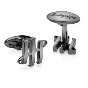Montegrappa Ambigram Cufflinks Gun Metal - 1