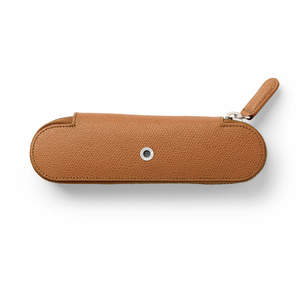 Cognac Graf von Faber-Castell Zipper Case for Two Pens - 1