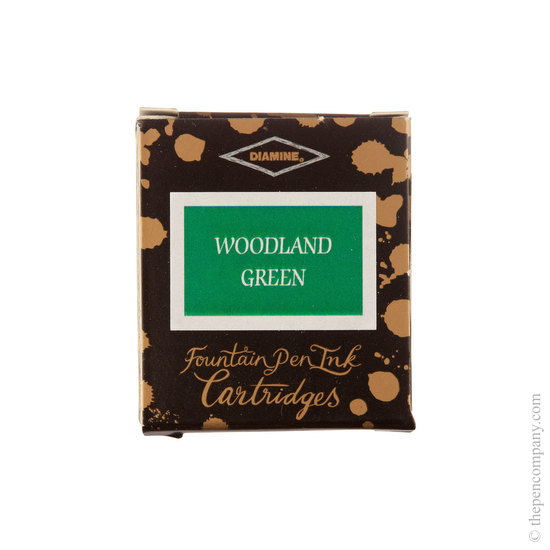 Diamine Woodland Green Fountain Pen Cartridges 6 Pack - 1
