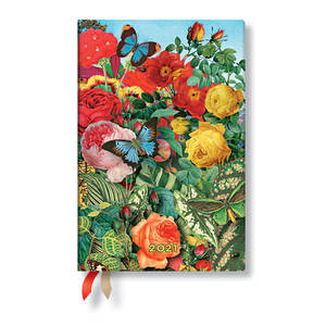 Paperblanks Butterfly Garden Nature Montages 2021 Diary Mini