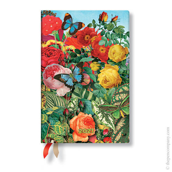 Mini Paperblanks Nature Montages 2021 Diary 2021 Diary Butterfly Garden Verso Week-to-View