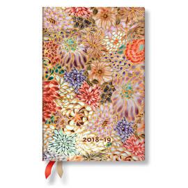Mini Paperblanks Michiko 2018-2019 18 Month Diary Kikka Horizontal Week-to-View - 1