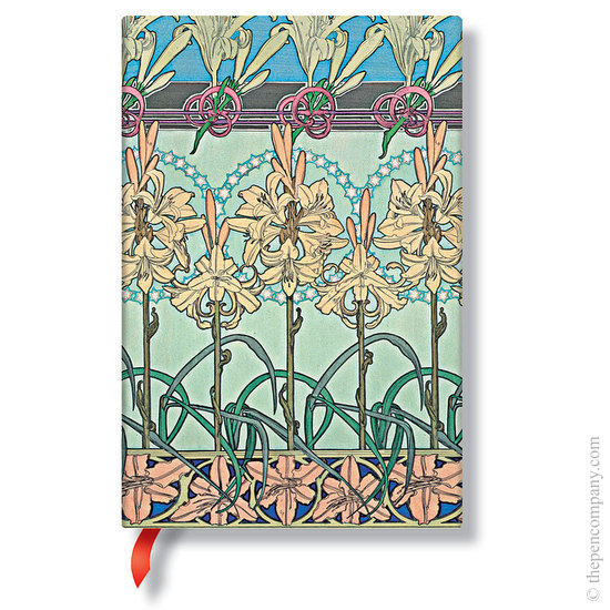 Lined Mini Paperblanks Tiger Lily Mucha Journal - 1