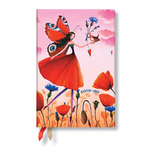 Mini Paperblanks Mila Marquis 2019-2020 18 Month Diary Poppy Field Horizontal Week-to-View - 1