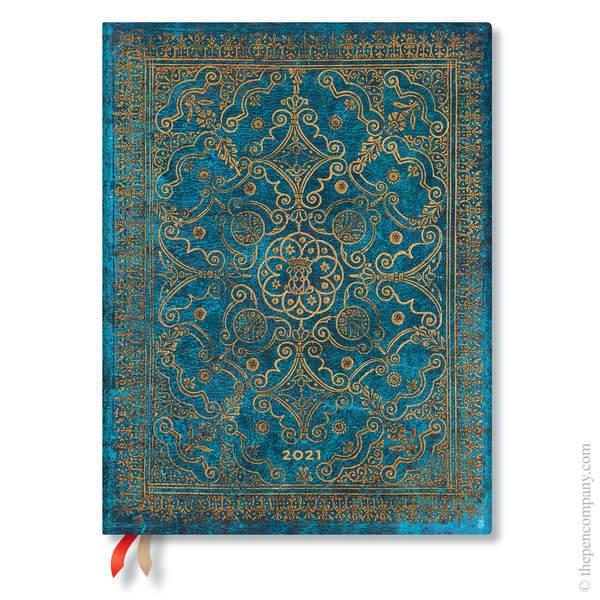 Ultra Paperblanks Equinoxe Flexi 2021 Diary 2021 Diary Azure Vertical Week-to-View