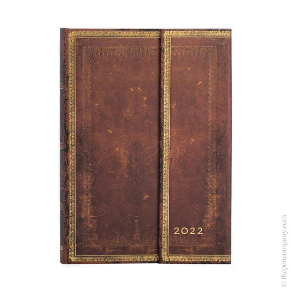 Midi Paperblanks Old Leather 2022 Diary 2022 Diary