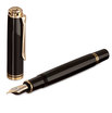Black Pelikan Souveran 800 Fountain Pen with Gold Trim - Medium Nib - 2