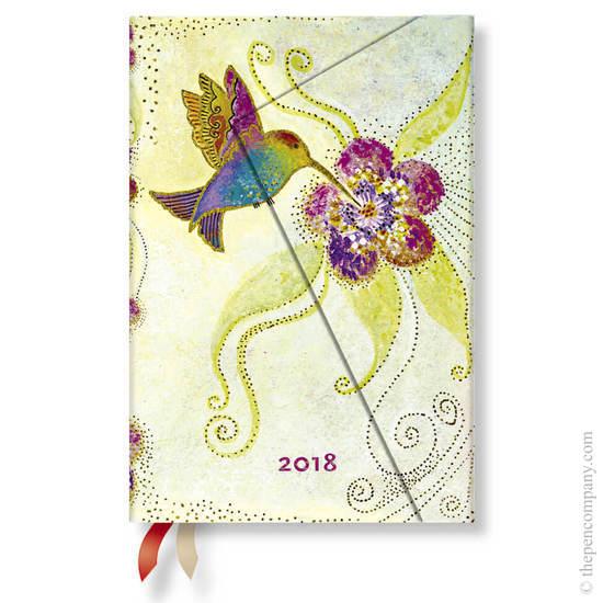 Mini Paperblanks Laurel Burch Whimsical Creations 2018 Diary Hummingbird Verso Week-to-View - 1
