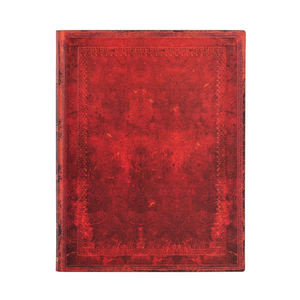 Paperblanks Red Moroccan Bold Old Leather 2022 Diary Ultra - Front