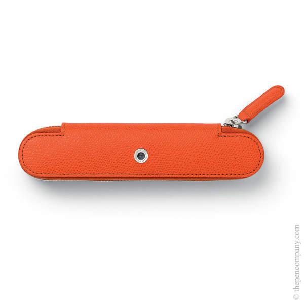 Burned Orange Graf von Faber-Castell Epsom Zipper Pen Case for One