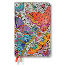 Mini Paperblanks Flutterbyes 2019 Diary Horizontal Week-to-View - 1