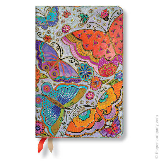Mini Paperblanks Flutterbyes 2019 Diary Verso Week-to-View - 1