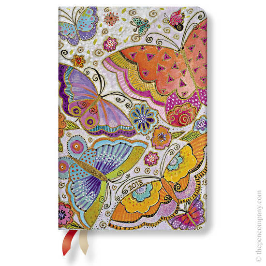 Mini Laurel Burch Flutterbyes 2018 Diary Horizontal Week-to-View - 1