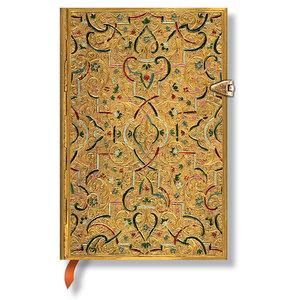 Lined Mini Paperblanks Gold Inlay Journal - 1