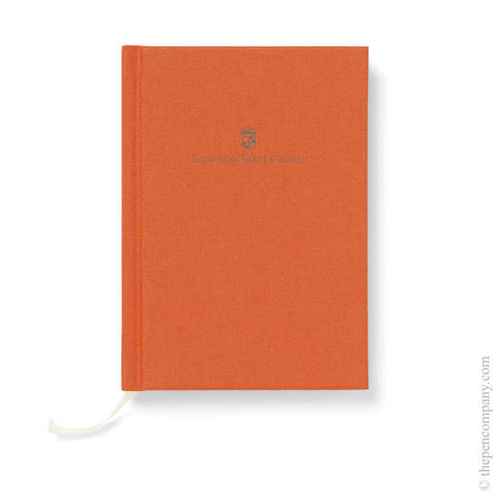 Orange A6 Graf von Faber-Castell Linen Notebook Journal - 1