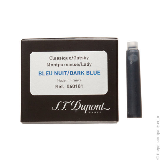 Blue-black old Dupont fountain pen cartridge - 1