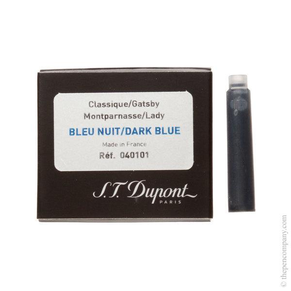 Blue-Black S.T. Dupont Classic Fountain Pen Cartridges Ink Cartridges