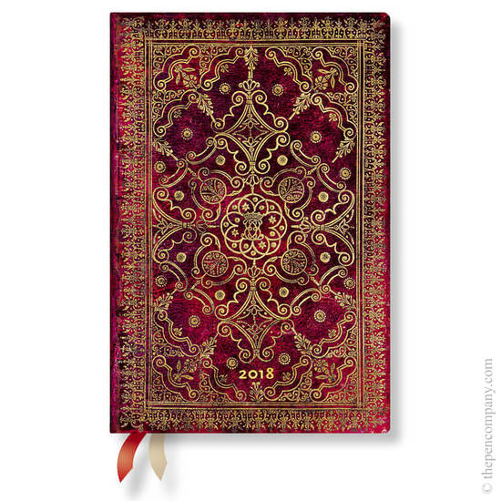 Mini Paperblanks Equinoxe 2018 Diary Carmine Day-to-View - 1