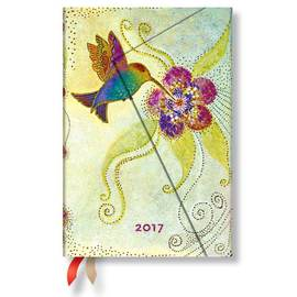 Paperblanks Mini Week-to-view Laurel Burch Hummingbird 2017 Diary - 1