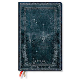 Maxi Paperblanks Old Leather Classics 2019-2020 18 Month Diary Midnight Steel Teacher's Planner - 1