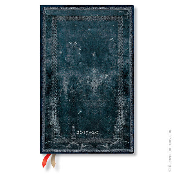 Maxi Paperblanks Old Leather Classics 2019-2020 18 Month Diary Academic Diary Midnight Steel Teacher's Planner