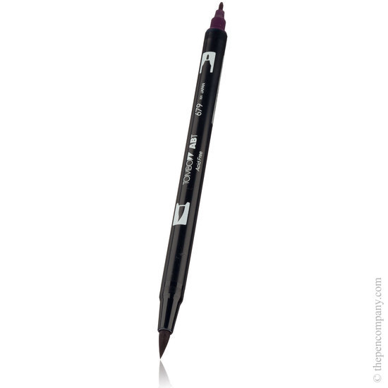Tombow ABT brush pen 679 Dark Plum - 2
