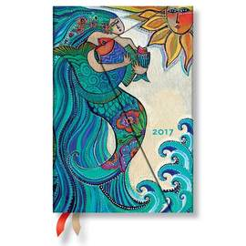 Paperblanks Mini Day-at-a-Time Laurel Burch Ocean Song 2017 Diary - 1