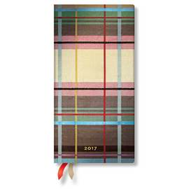 Paperblanks Slim Week-to-view Mad for Plaid Warwick 2017 Diary - 1