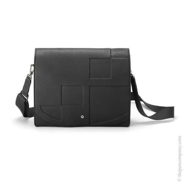 Black Graf von Faber-Castell Cashmere Messenger Bag Landscape