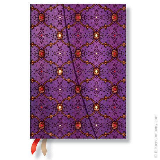 Paperblanks French Ornate Violet Horizontal Midi 2016 Diary - 1