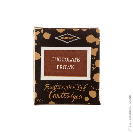Diamine Chocolate Brown Fountain Pen Cartridges 6 Pack - 1