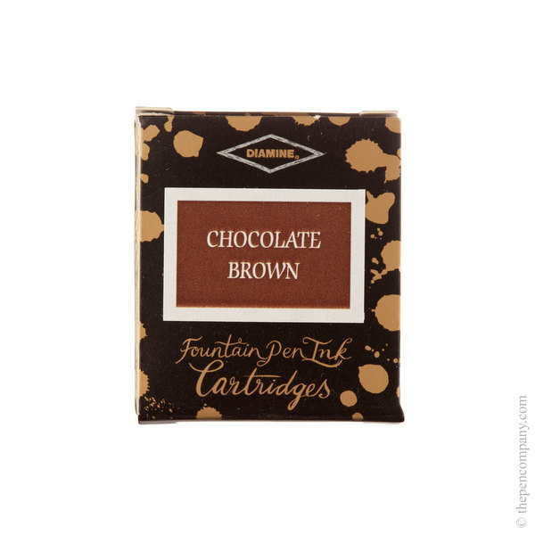 Chocolate Brown Diamine Fountain Pen Ink Cartridges Pack of 6