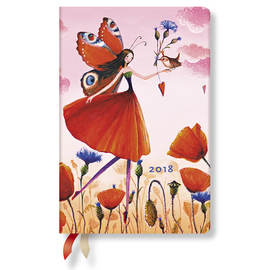 Mini Mila Marquis 2018 Diary Poppy Field Horizontal Week-to-View - 1