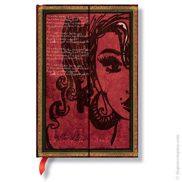 Mini Paperblanks Embellished Manuscripts Journal Amy Winehouse, Tears Dry Lined