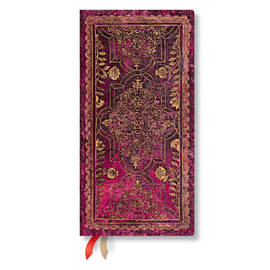 Slim Paperblanks Fall Filigree 2019 Diary Amaranth Horizontal Week-to-View - 1