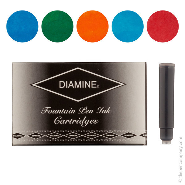 Floral Selection Diamine Fountain Pen Ink Cartridges Selection Pack