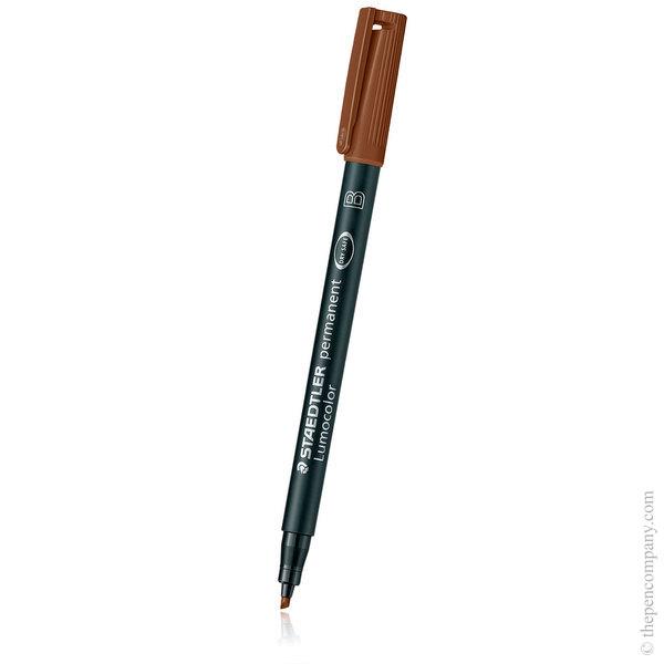 Brown [7] Staedtler Lumocolor Permanent Marker - Broad